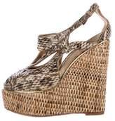 Christian Dior Snakeskin Wedge Sandals