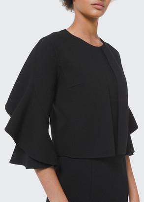 Michael Kors Collection Double-Face Ruffle-Sleeve Cardi Jacket