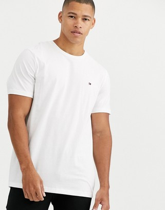 Tommy Hilfiger flag crew lounge t-shirt in white