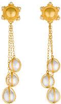 Gurhan Capture Pearl & Diamond Drop Earrings