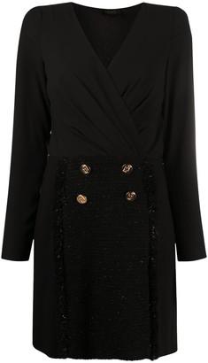 Liu Jo Button-Detail Mini Dress