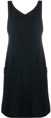 Chanel Pre Owned 1998 V-neck shift dress