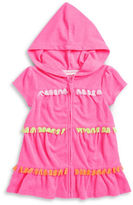 Flapdoodles Baby Girls Hooded Fringe Cover-Up