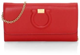 Salvatore Ferragamo Mini Gancini Leather Wallet-On-Chain
