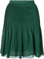 Oscar de la Renta pleated Georgette skirt