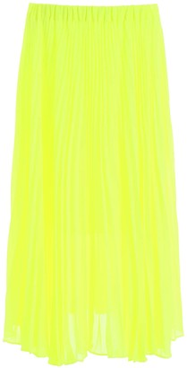MICHAEL Michael Kors PLEATED MIDI DRESS 2 Yellow