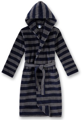 Sanetta Boy's 243869 Dressing Gown Blue (blue night mel) 6 - 7 Years (Manufacturer Size: 128)