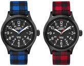 Timex Men's Buffalo Checker Scout   Nylon Flannel Strap   Casual Watch