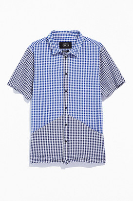NATIVE YOUTH Two-Tone Check Short Sleeve Button-Down Shirt