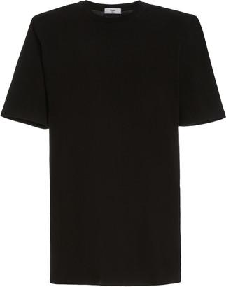 The Frankie Shop Sean Padded-Shoulder Cotton Mini T-Shirt Dress