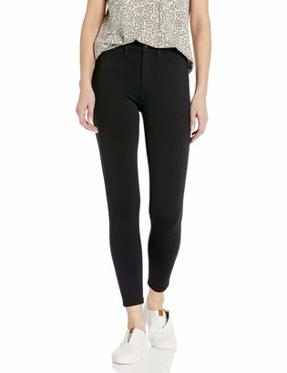 Daily Ritual Ponte Faux-5 Pocket Flat-front Legging Black S