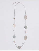 M&S Collection Resin Chip Long Necklace