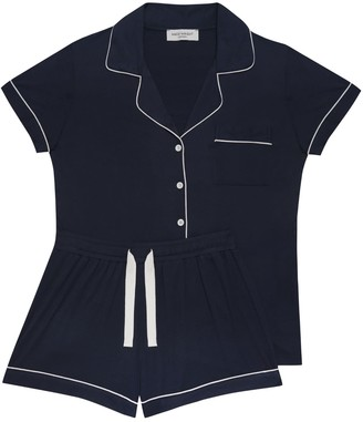 Made Wright London Aria Short Pyjama In Navy Blue
