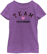 Fifth Sun Purple Berry 'Team Awesome' Tee - Girls