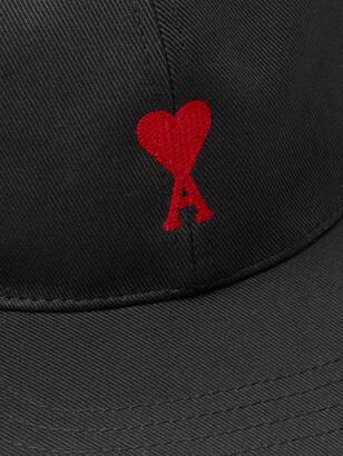 AMI Paris Logo-Embroidered Cotton-Twill Baseball Cap