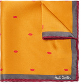 Paul Smith - + Gufram Lip-print Silk Pocket Square