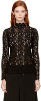 Helmut Lang Black Lace Blouse