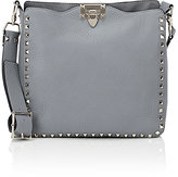 Valentino Women's Rockstud Small Messenger-LIGHT GREY