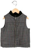 Makie Boys' Wool Gingham Vest