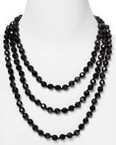 """Carolee Black Faceted Bead Rope Necklace, 72"""""""