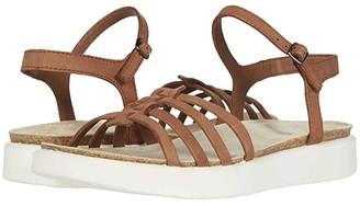 Ecco Corksphere Ankle Strap Sandal (Mahogany Cow Nubuck) Women's Shoes