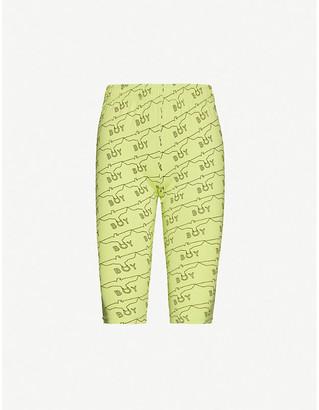 Boy London Logo-print cotton-jersey cycling shorts