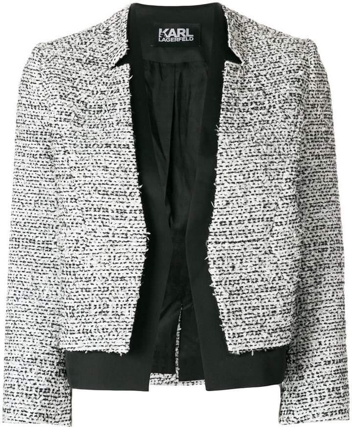Karl Lagerfeld bouclé and satin blazer