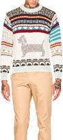 Thom Browne Hector Browne Fair Isle Jacquard Sweater