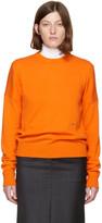 Calvin Klein Orange Cashmere Crewneck Sweater