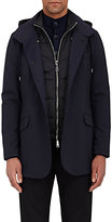 Giorgio Armani Men's 3-In-1 Wool-Blend Raincoat-Navy