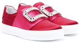 Roger Vivier Sneaky Viv' satin slip-on sneakers