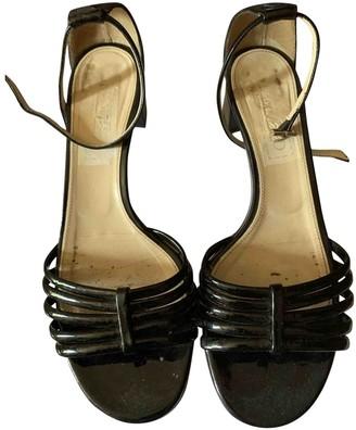 Max Mara Black Patent leather Sandals