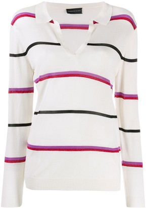 Cashmere In Love Striped Polo Shirt