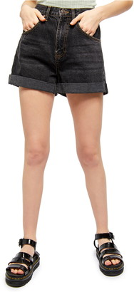 BDG Rolled Cuff Mom Shorts