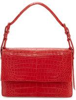 Nancy Gonzalez Mini Flap Crocodile Top-Handle Bag, Red Matte