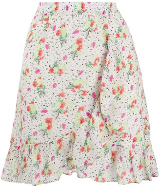 Essentiel Antwerp Video floral mini skirt