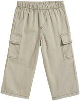 City Threads Soft Twill Cargo Pant w/ Navy Stitch - Dark Khaki-6 - 9 Months
