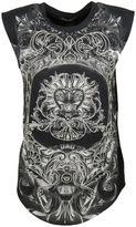 Balmain Embroidered Print Tank Top