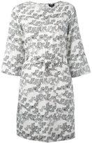 A.P.C. printed belt dress - women - Silk - 36
