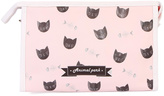 Riah Fashion Bone & Cat Cosmetic Bag