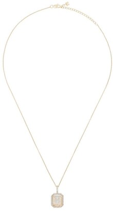 Mateo 14kt yellow gold H diamond necklace