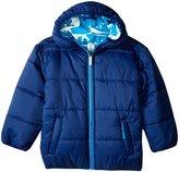 Hatley Dinos Winter Puffer (Toddler/Kid) - Blue - 8
