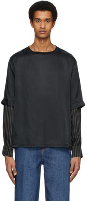Neil Barrett Black Double Sleeve T-Shirt