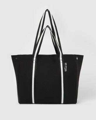 Miz Casa and Co - Women's Black Tote Bags - California Neoprene Tote Bag - Size One Size at The Iconic