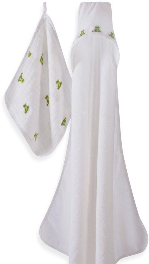 Aden Anais aden + anais® Mod About Baby Frog Hooded Towel & Washcloth Set