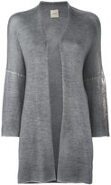 Nude golden sleeve cardigan - women - Silk/Cashmere/Wool - 40