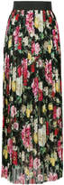 Dolce & Gabbana pleated floral maxi skirt