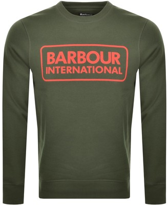 Barbour International Crew Neck Sweatshirt Green