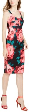 Trina Turk Trina Sweetheart Floral-Print Midi Dress