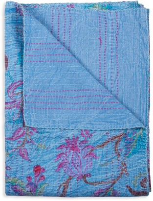 +Hotel by K-bros&Co Taj Hotel Kantha Quilted Floral Patchwork Throw